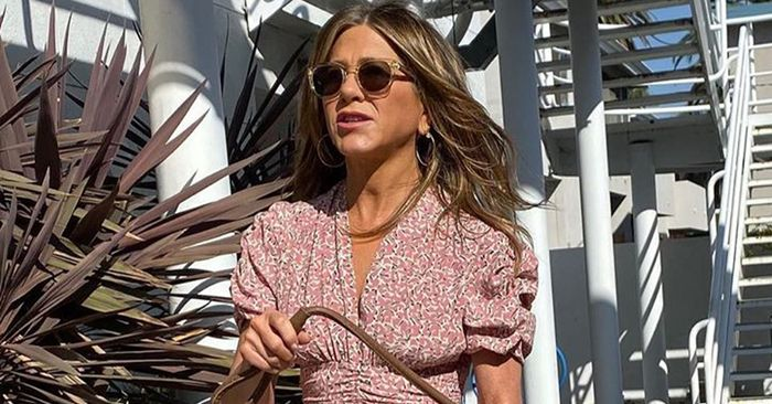 Jennifer Aniston Proves Puff Sleeve Dresses Are Here To Stay